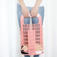 Foldable Wall Hanging Bathroom Laundry Basket - Pink