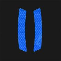 4 Pcs Car Door Opening Reminder Reflective Warning Stickers - Blue