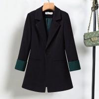 Suit Neck Full Sleeves Formal Wear Coat - Black