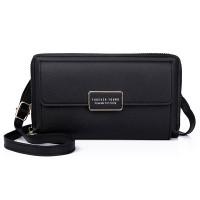 Zipper Women Fashion Fancy Synthetic Leather Bags - Black