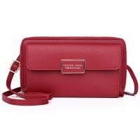 Zipper Women Fashion Fancy Synthetic Leather Bags - Burgundy