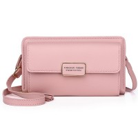 Zipper Women Fashion Fancy Synthetic Leather Bags - Pink