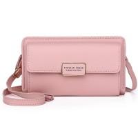 Zipper Women Fashion Fancy Synthetic Leather Bags - Pink