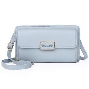 Zipper Women Fashion Fancy Synthetic Leather Bags - Blue