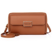 Zipper Women Fashion Fancy Synthetic Leather Bags - Brown