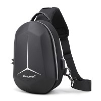Zipper Closure Protective Casual Smart Backpack - Black