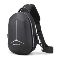 Zipper Closure Protective Casual Smart Backpack - Black