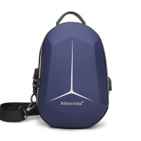 Zipper Closure Protective Casual Smart Backpack - Dark Blue