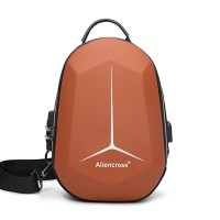 Zipper Closure Protective Casual Smart Backpack - Brown