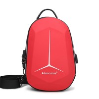 Zipper Closure Protective Casual Smart Backpack - Red