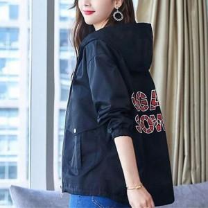 Nylon Hoodie Full Sleeve Winter Jacket - Black