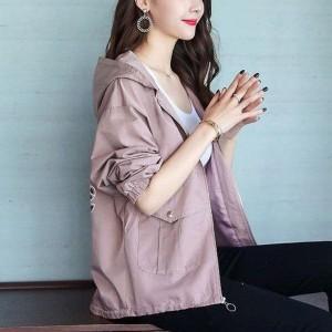 Nylon Hoodie Full Sleeved Winter Jacket - Pink
