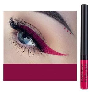 Glittery Finish Waterproof High Quality Eye Liner - Burgundy
