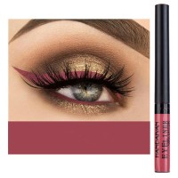 Glittery Finish Waterproof High Quality Eye Liner - Red