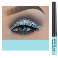 Glittery Finish Waterproof High Quality Eye Liner - Light Blue