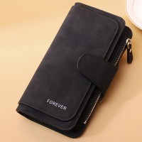 Mesh High Quality Zipper Closure Women Handheld Wallets - Black