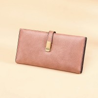 Magnetic Closure Synthetic Leather Luxury Women Fashion Wallet - Pink