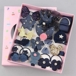 Multi Design Cute Princess Hair Grooming Bands and Clips - Blue