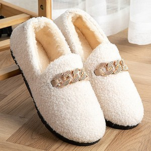 Fluffy Cute Special Comfy Soft Flat Shoes - White