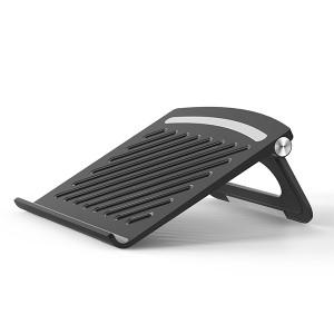 Creative Hollow Base Air Passage Modern Laptop Stand - Black