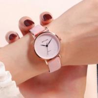 Sober Fashion Design Plain Women Wear Wrist Watch - Pink