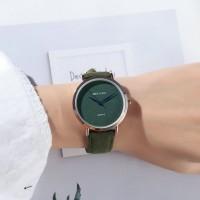 Sober Fashion Design Plain Women Wear Wrist Watch - Green