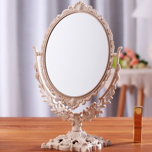Carved Luxury Rotatory Foldable Home Essential Mirror