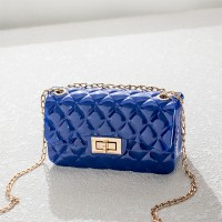 Twist Lock Geometric Textured Jelly Bags - Blue