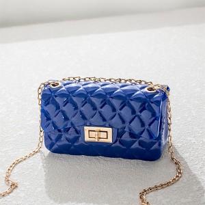 Twist Lock Geometric Textured Jelly Bags - Blue