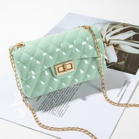 Twist Lock Geometric Textured Jelly Bags - Light Green