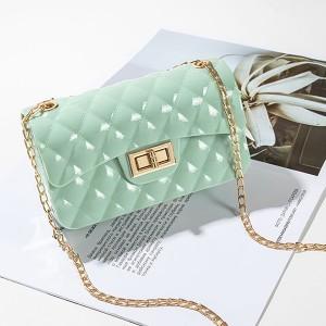 Twist Lock Geometric Textured Jelly Bags - Light Green