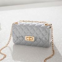 Twist Lock Geometric Textured Jelly Bags - Gray