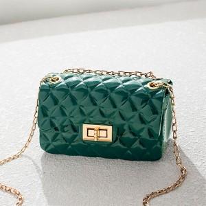 Twist Lock Geometric Textured Jelly Bags - Green