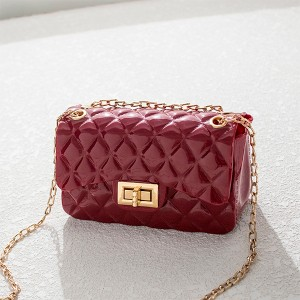 Twist Lock Geometric Textured Jelly Bags - Red