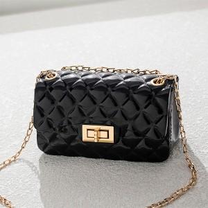 Twist Lock Geometric Textured Jelly Bags - Black