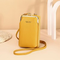 Zipper Closure Synthetic Leather Smart Mini Vertical Shoulder Bags - Yellow