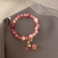 Rhinestone Decorative Women Fashion Bracelets - Pink