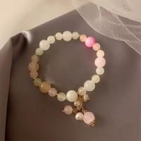 Rhinestone Decorative Women Fashion Bracelets - White