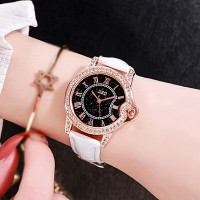 Crystal Patched Party Wear Analogue Wrist Watch - White