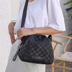 Printed Fancy Women Fashion Designers Shoulder Bag - Black