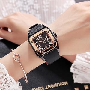 Mesh Strapped Roman Dial Analogue Wrist Watch - Golden