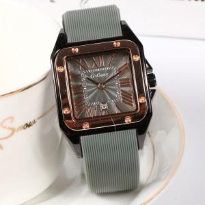 Mesh Strapped Roman Dial Analogue Wrist Watch - Gray
