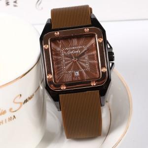 Mesh Strapped Roman Dial Analogue Wrist Watch - Dark Brown