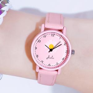 Flower Dial Numeric Cute Women Fashion Wrist Watch - Pink