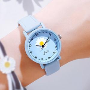 Flower Dial Numeric Cute Women Fashion Wrist Watch - Blue