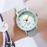 Flower Dial Numeric Cute Women Fashion Wrist Watch - Green