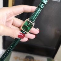 Square Fancy Elegant Wear Women Fashion Wrist Watch - Green
