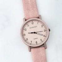 Mesh Pattern Strap Numeric Analogue Wrist Watch - Pink