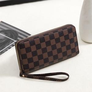 Geometric Prints Zipper Closure Fancy Wristlet Wallet