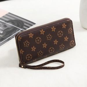 Floral Prints Zipper Closure Fancy Wristlet Wallet